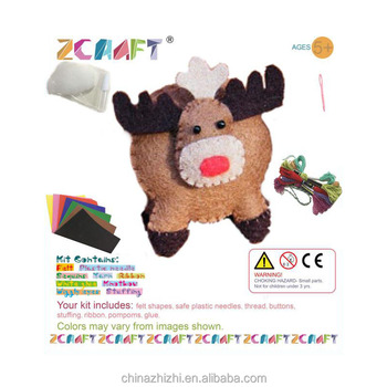 New Style Cute Cartoon Craft Kits Felt Popular Diy Handmade Toy Mini
