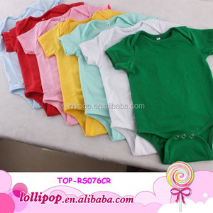 Hot sales! soft gorgeous top quality baby onesie solid plain baby bodysuit