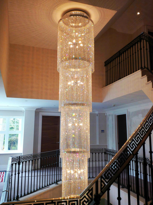 wholesale factory luxury villa custom staircase pendant light led