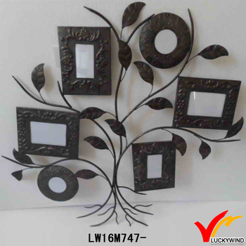 Wall Hanging Multi Antique Retro Metal Family Tree Photo Frames