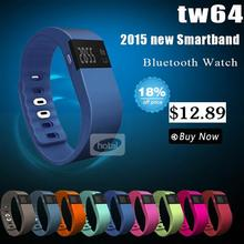 New tw64 Smartband Smart bracelet Wristband Fitness tracker Bluetooth 4.0 fitbit flex Watch for ios android better than mi band