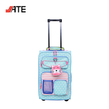 "New Design Decorative Suitcase Kid 18"" Rolling Upright Trolley Bag"