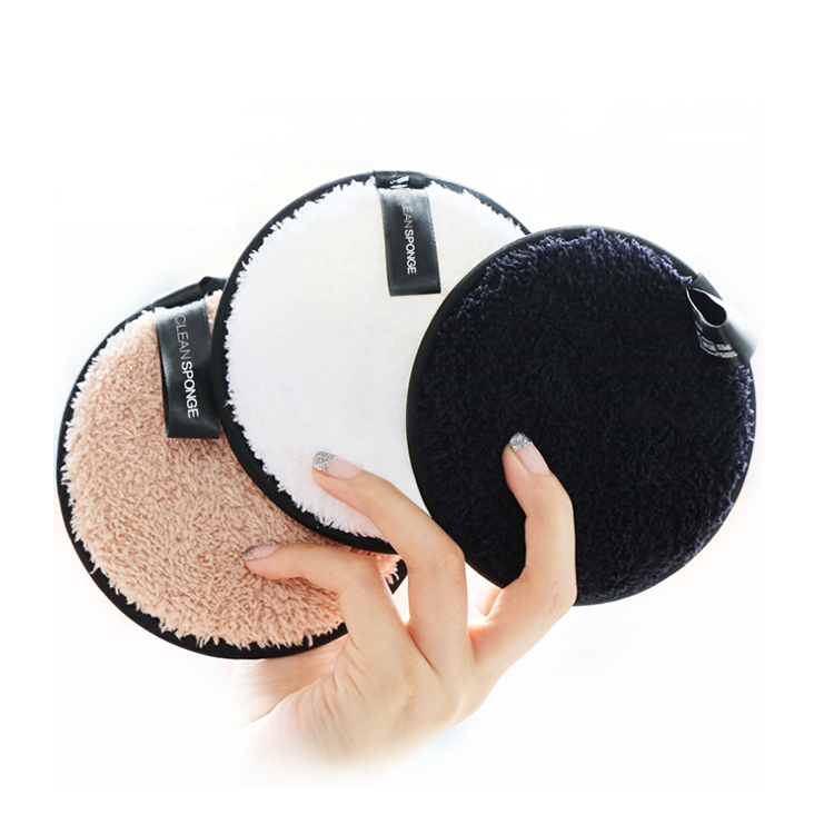 New Arrivals Cleansing Puff Velvet Surface Microfiber Makeup Remove Sponge puff