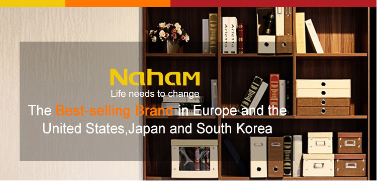 NAHAM fashion leather magazine rack organizer file holder for office