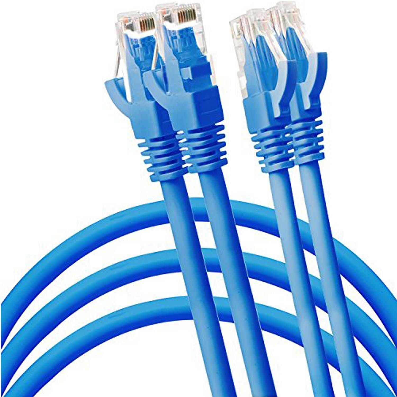 SuperEcable 3 PCS//Pack Purple Color 70 Ft Cat5e Ethernet Network Patch Cable