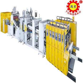Vacuum transfer high speed automatic flexo printer slotter die-cutter &folder gluer strapping production line
