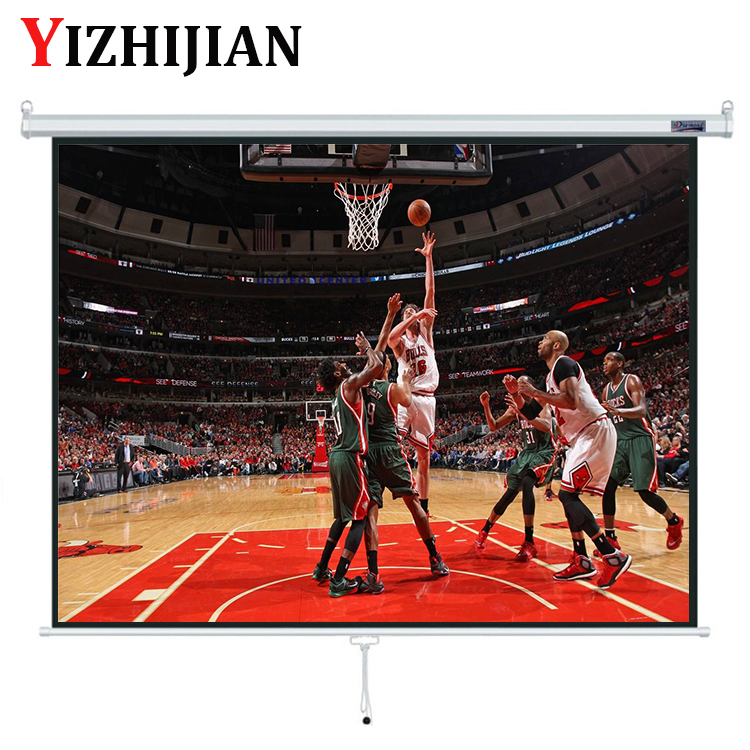 Professional Projector Screen Big Movie Manual Pull Down Projector Screen