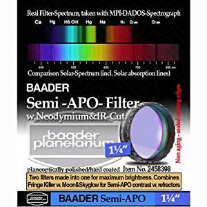 """Baader Planetarium Semi APO Filter 1.25"""" FSAPO-1"""