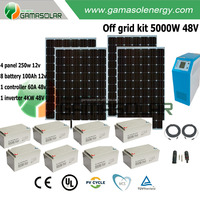 Hybrid best design off-grid 5kw 10kw 15kw 20kw 30kw 50kw home solar system for hotels use