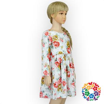 7ace0a67b 2016 New Model Girl Dress Children Frocks Designs Long Sleeve Cotton ...