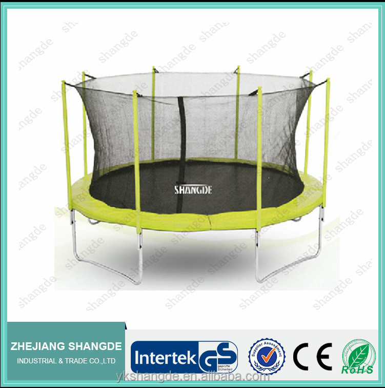 14ft superb round trampoline with safety net safe bungee jumping with child safety net