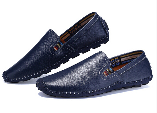High Quality Men's Genuine Leather Flats Shoes,2015 New Moccasins Handmade Sneakers,Brand Designer Flats Loafers For Men