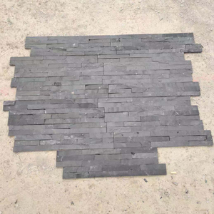 Chinese natural dark color slate tiles for wall covering cultural wall panel stacked Sandstone Wall Cladding Ledge Stone