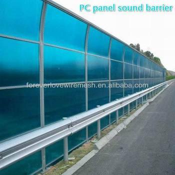 Clear Pc Sound Barrier/highway Noise Barrier Uv Coating Polycarbonate Sheet  Road Barrier - Buy Road Barrier,Highway Road Barrier,Polycarbonate Road