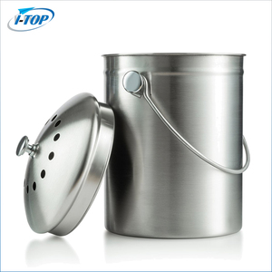 Factory top selling stainless steel kitchen compost bin