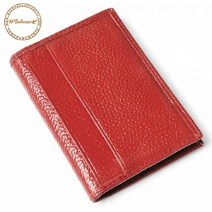 Custom Popular Short Style Leather Holder Wallet Passport Cover