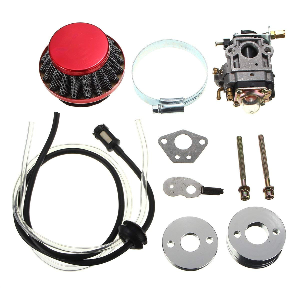 CoCocina Carburetor Air Filter Fuel Line Kit For 43cc 49cc Pocket Bike Scooter ATV Moto