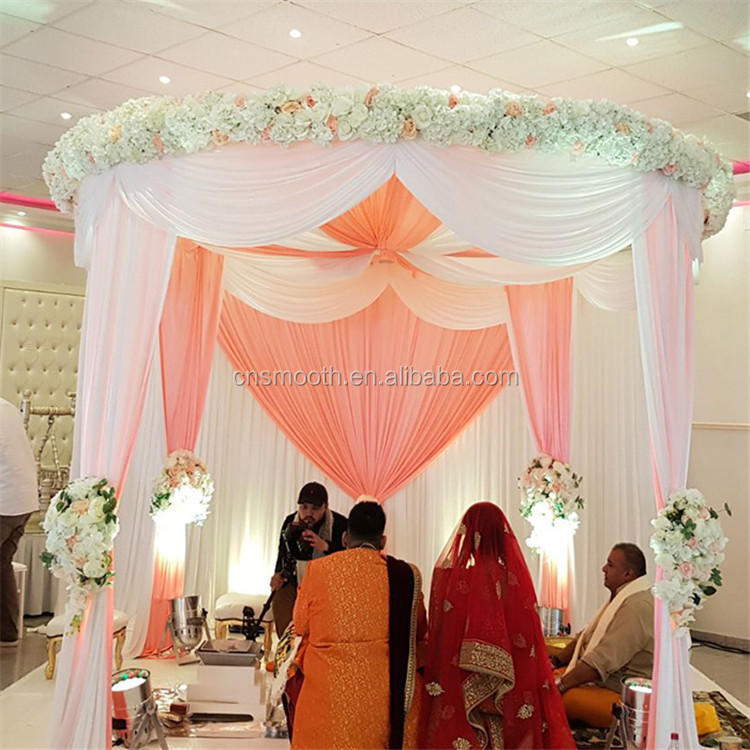 Factory Oem Design Cloth White Wedding Decoration Stage Backdrops