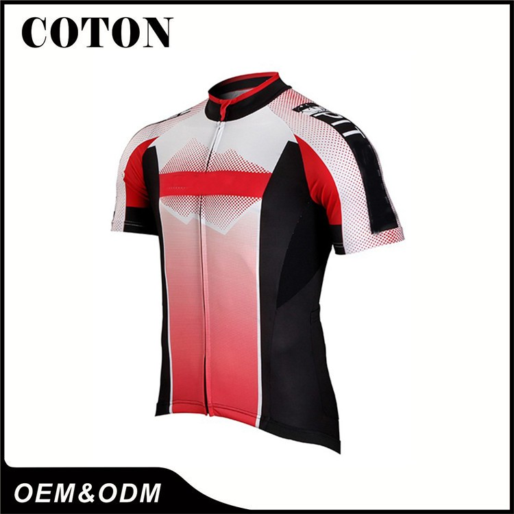 China custom cheap Cycling Clothing sublimation bicycle team uniforms shirts 24eddd089