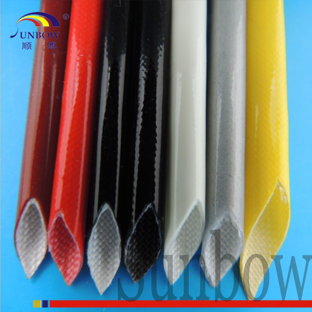 Flame Retardant Silicon Rubber Coated Fiberglass Sleeving