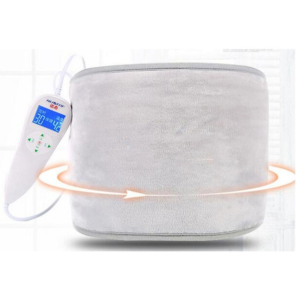 LPY-Multifunction Lumbar Support, Electric Heating Lumbar Device Protection Belt Intelligent Control of Temperature, Grey