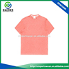 Custom high quality pima cotton ribbed collar solid color blank t shirt