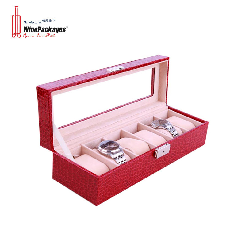 PVC window five six ten twelve watch display box