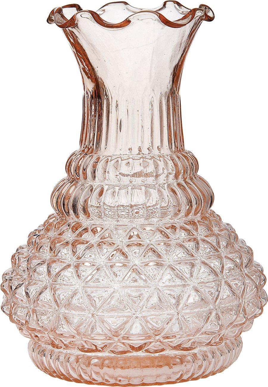 Cheap glass vase vintage find glass vase vintage deals on line at get quotations luna bazaar vintage glass vase 575 inch ruffled genie design vintage pink reviewsmspy