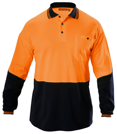 <strong>Orange</strong>/navy Hi Vis Safety Uniforms Style Work Wear Polo Shirt