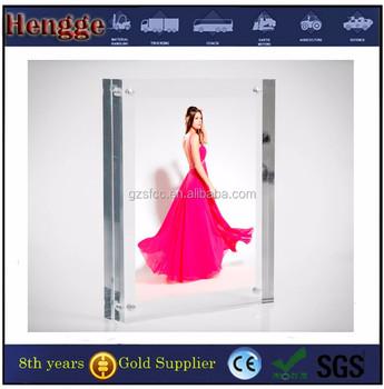 High Transparency Desk Acrylic Block Frame,Tabletop Plexiglass ...