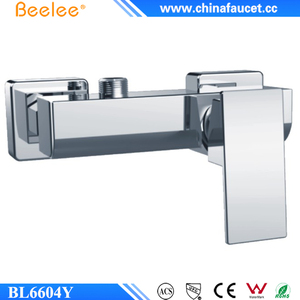 Wholesale Brass Chrome Single Function Bathroom Wall Faucet