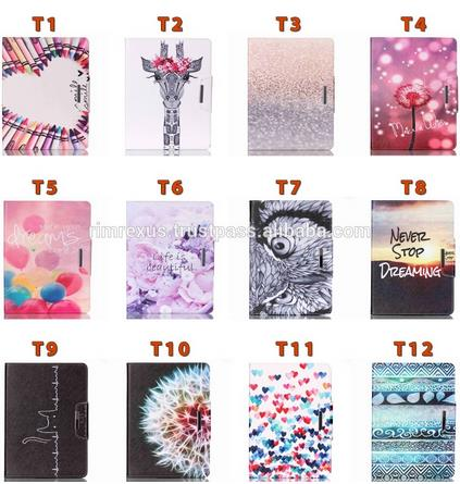 Painting Cover Silicon PU Leather Case for iPad
