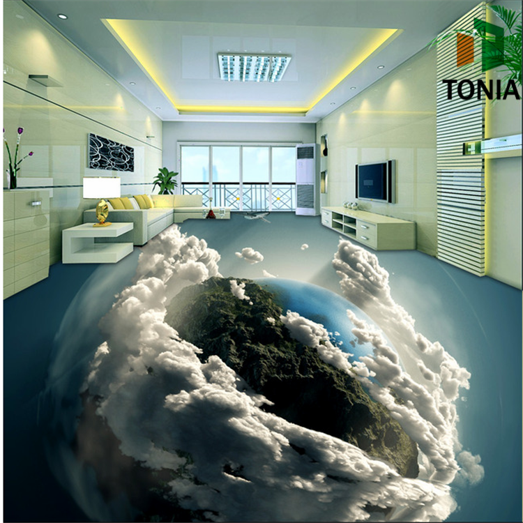 3d wall and floor tile 3d flooring bathroom 3d tile price for Bathroom floor mural sky