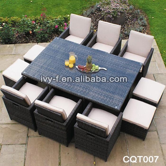 mobili da giardino in rattan sintetico rattan cubo set tavolo e sedia ...