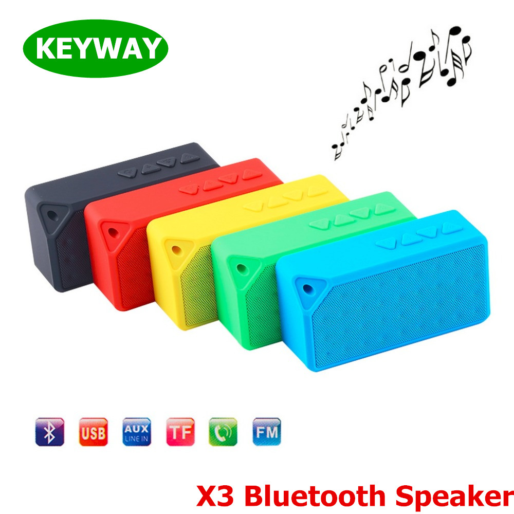 Classic Super Bass Mini X3 Bluetooth Speaker Portable Handsfree Wireless Speaker Support TF Card/USB/FM Radio For iPhone 7