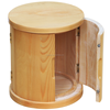 2016 new design varnish round wooden package box with side door