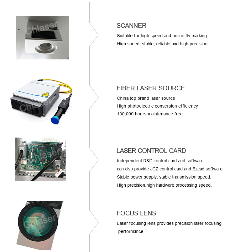Enclosed Portable 20w 30w Fiber Laser Marking Machine for Metal and Non-metal