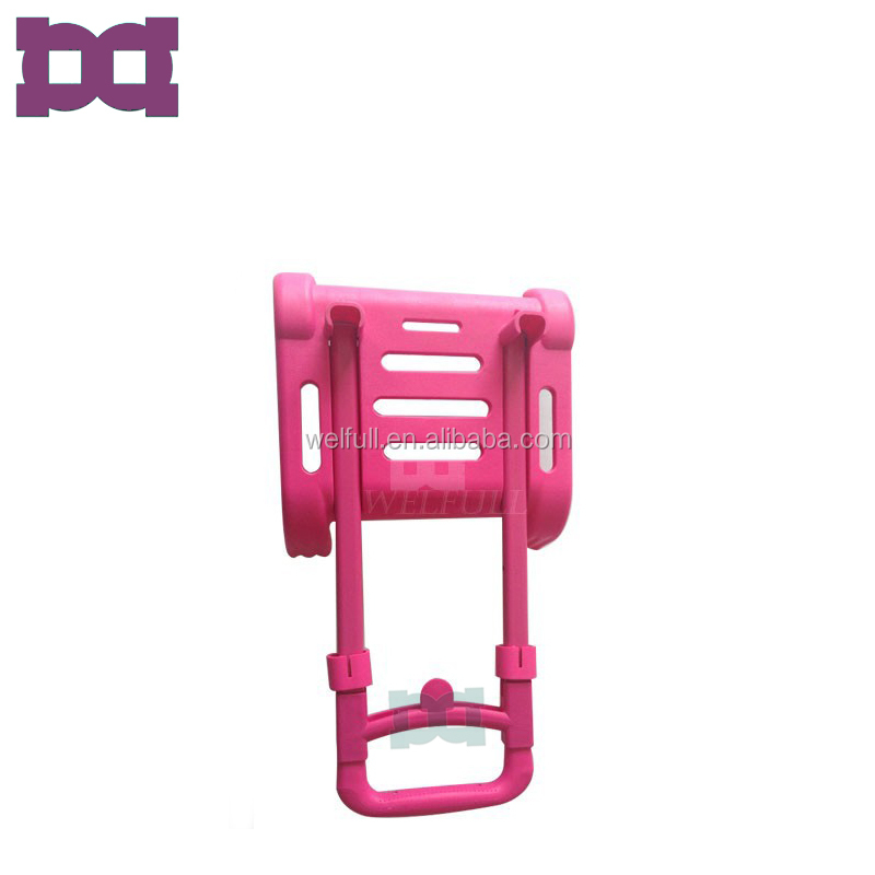 Pink Lightweight Aluminum Multi-Function Folding Trolley For Girls