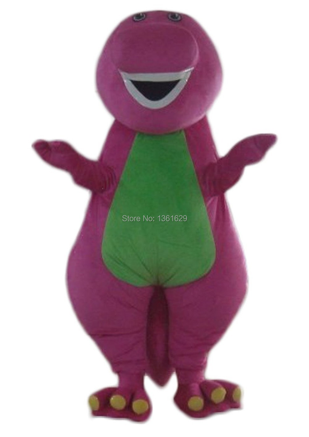 Special adult barney costume dinosaur purple with