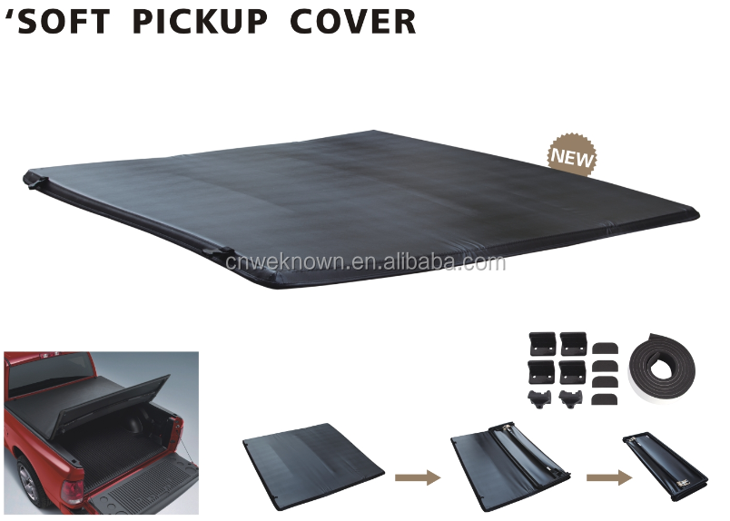 Black pickup truck bed cover for Frontier