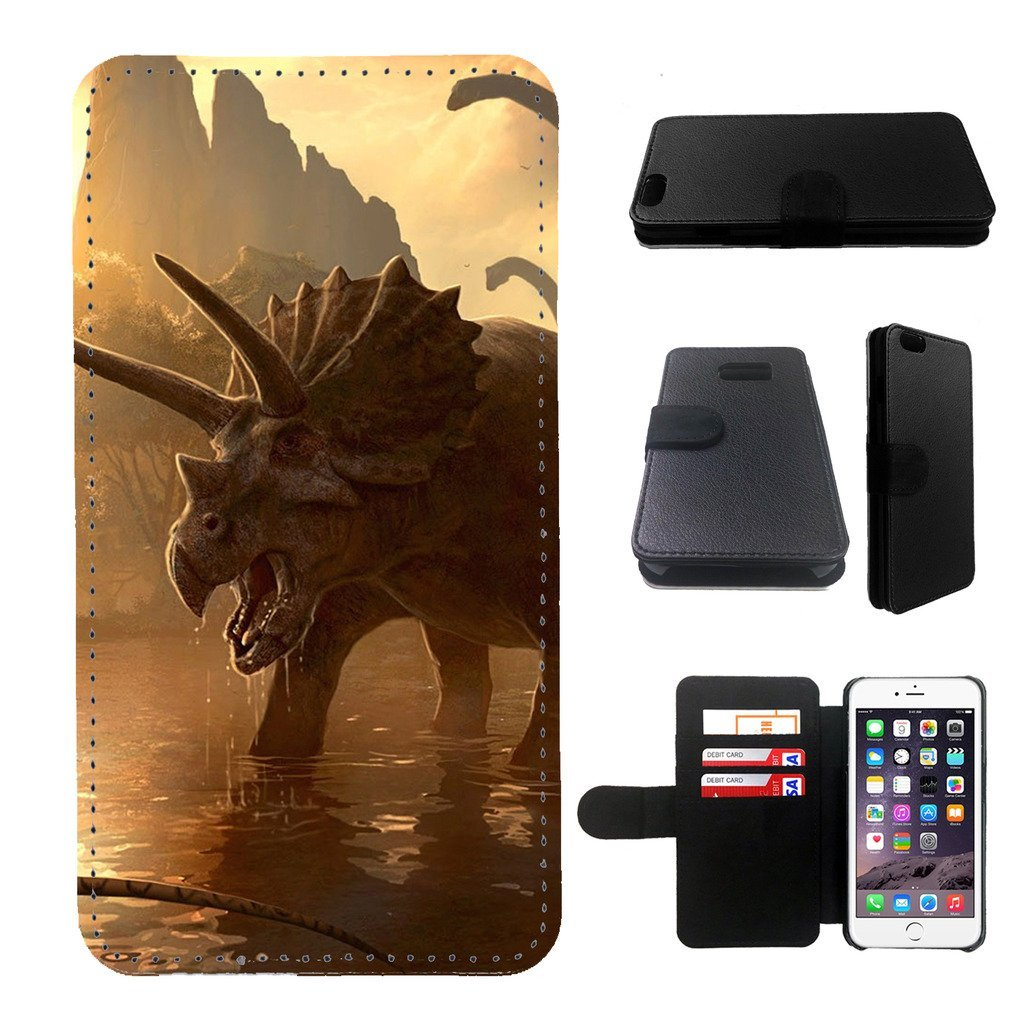 dinosaur iphone 5 wallet leather case, iphone 5s wallet case, iphone 5/5s flip case, black