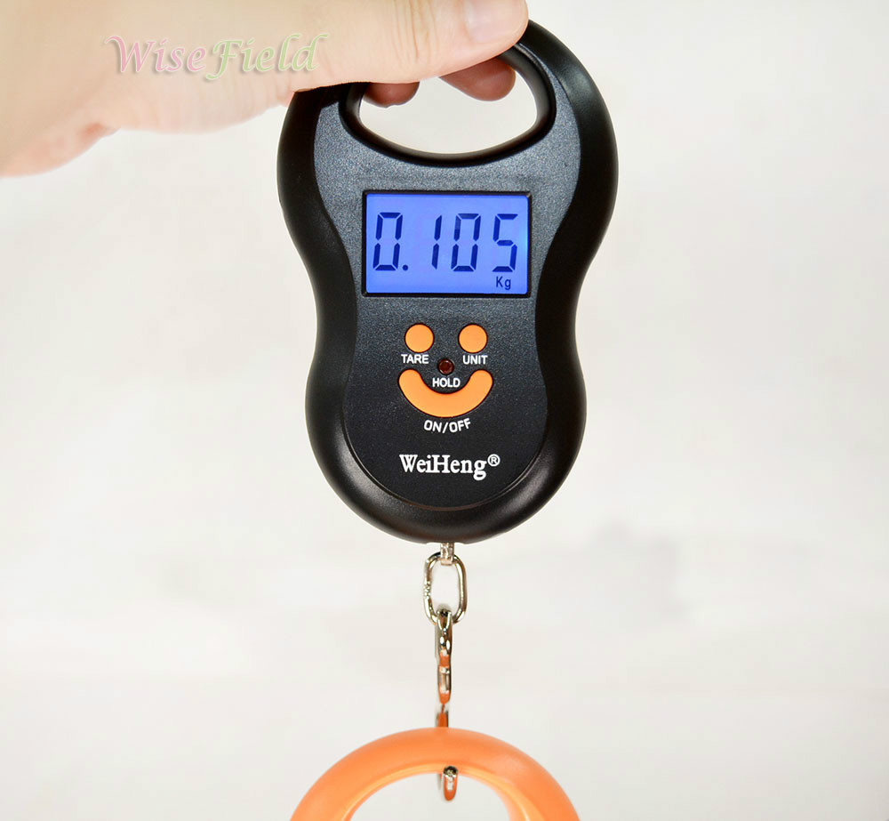 Hot Scale 50Kg 5g Fishing Digital Pocket Weight Luggage Fish Hanging Scale