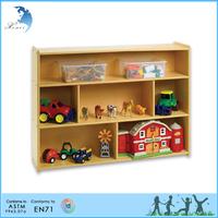 High end low price edge color digital printing montessori wooden storage rack