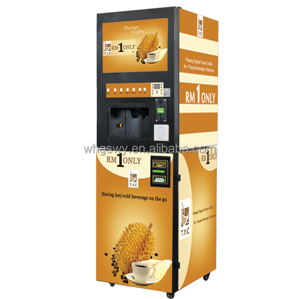4-flavors Vending Machines Coin/Bill/IC card Operated Coffee Machine