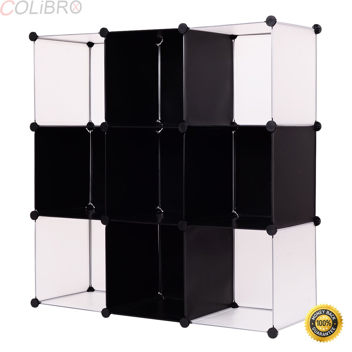 COLIBROX--3 Tier 9 Cubic Bookcase Storage Cabinet Shelf Closet Organizer Home Furni New. The eco-friendly, no formaldehyde PP plastic panels. It is a good decorative item for your house.