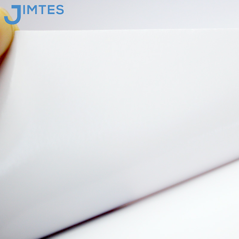 JIMTES printable thick White self adhesive pvc vinyl roll for removable vinyl stickers or vinyl banner