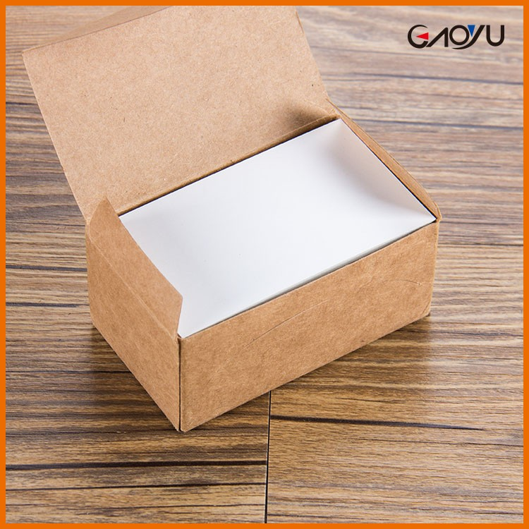 New Design Simple China Manufacture Kraft Paper DIY Memory Card With Kraft Box