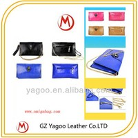 high quality acrylic purse and clutch with metal chain dual-use bag