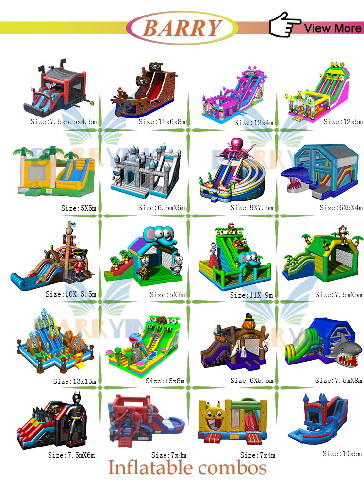 Large inflatable combo obstacle course manufacturer