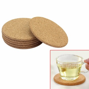 Round Plain Cork Coasters Drink Coffee Tea Cup Mat Pad Home Kitchen Office Table Decor Pad